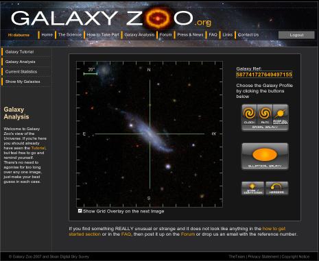 Spiral-Galaxy von der Seite