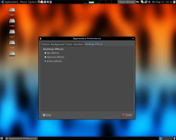 Desktopeffekte einschalten