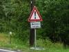 Vorsicht Überflutete Fahrbahn