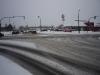 verschneite Kreuzung
