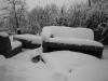 Sofa im Schnee