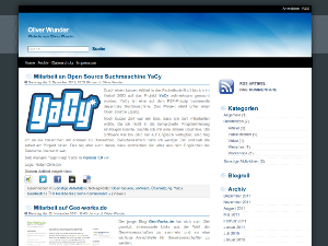 Screenshot Wordpress Theme blueblog version 1.3