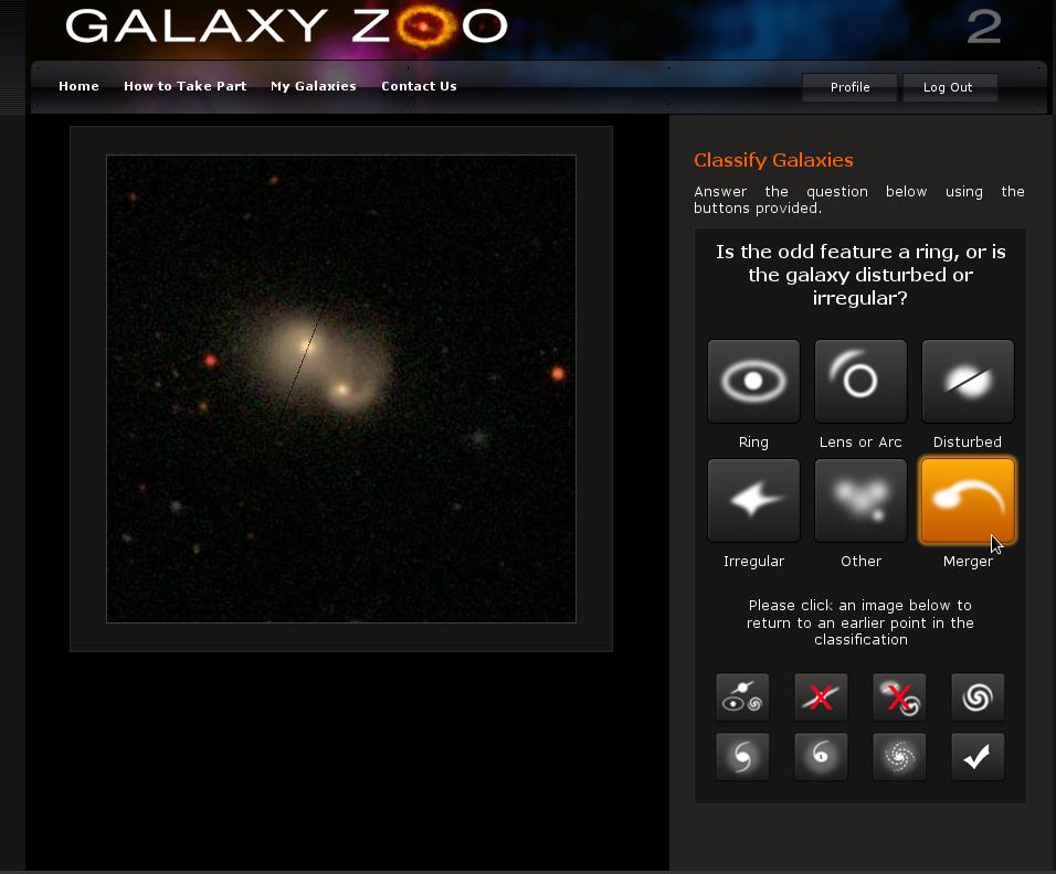 Galaxyzoo 2 Betatest gestartet