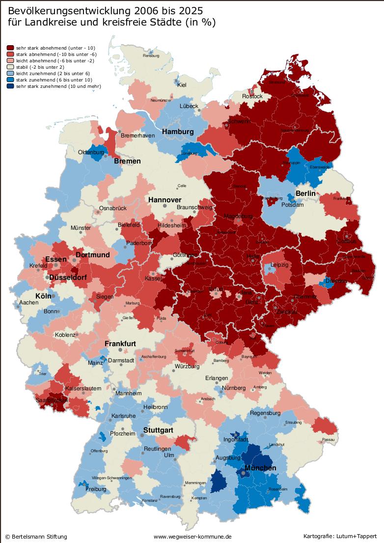 Bevölkerungsprognose Deutschland 2025