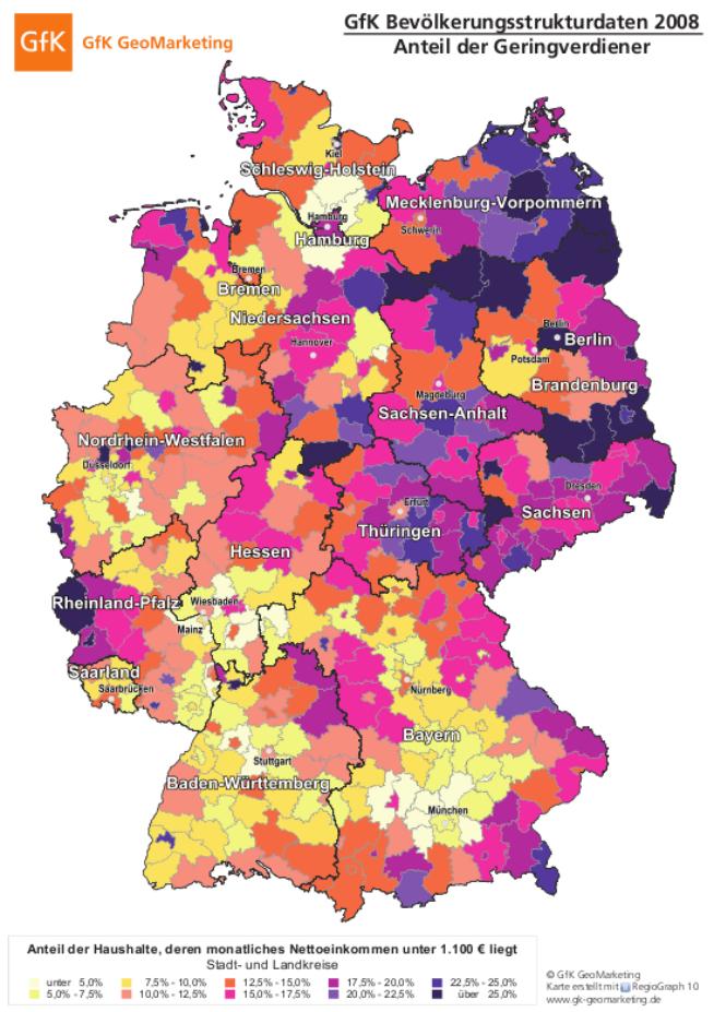 Regionale Disparitäten der Wohlstandsverteilung