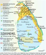 Aktuelle Le Monde diplomatique Karte: Sri Lanka