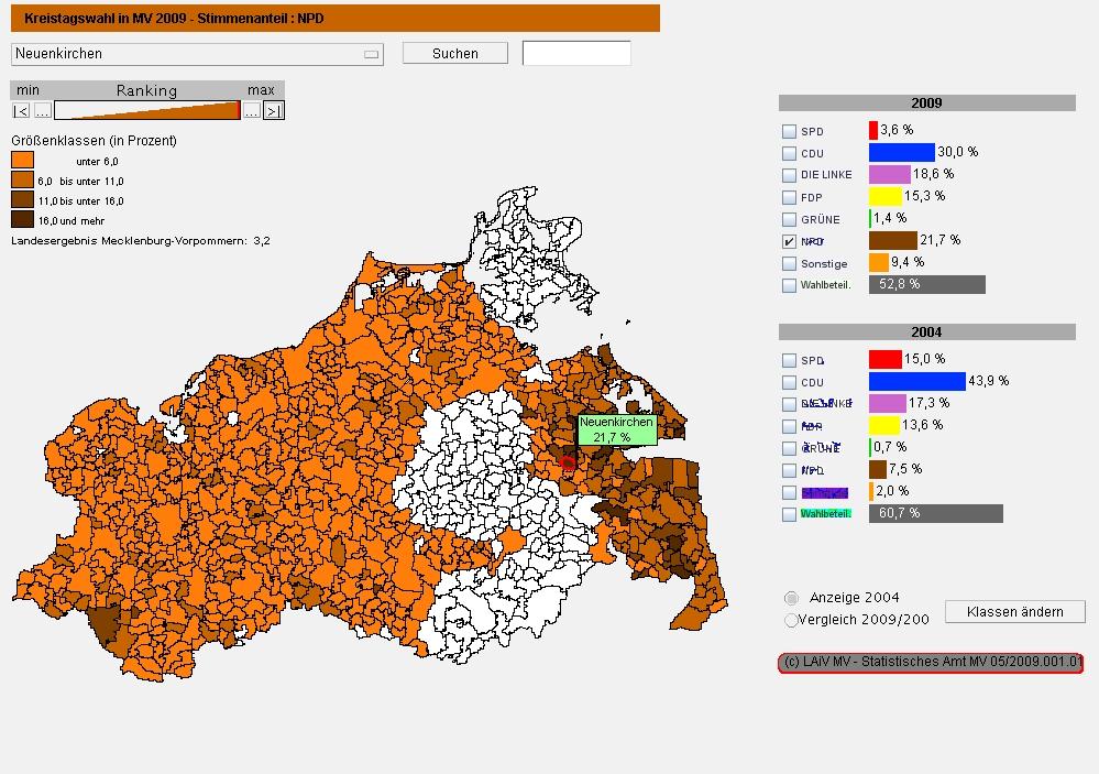 Ergebnisse der Kommunawahl kartographisch