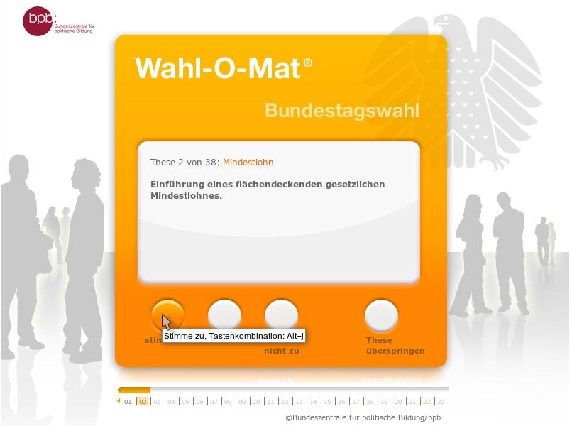 Wahl-O-Mat online
