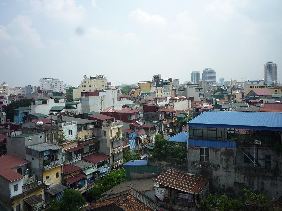 Hanoi aus dem 6. Stock des Hotels