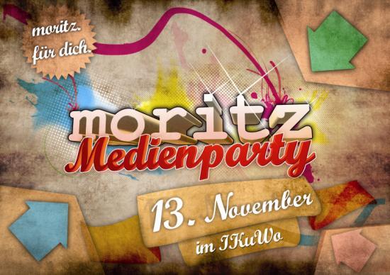 Moritz-Medien Party Flyer