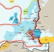 Aktuelle Le Monde diplomatique Karte: Schengenraum