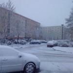 Wintereinbruch in Greifswald