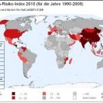 Karte des Klima-Risiko-Index 2010