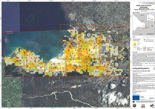Karte von Haiti nach dem Erdbeben