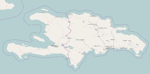 OpenStreetMap-Karte von Haiti
