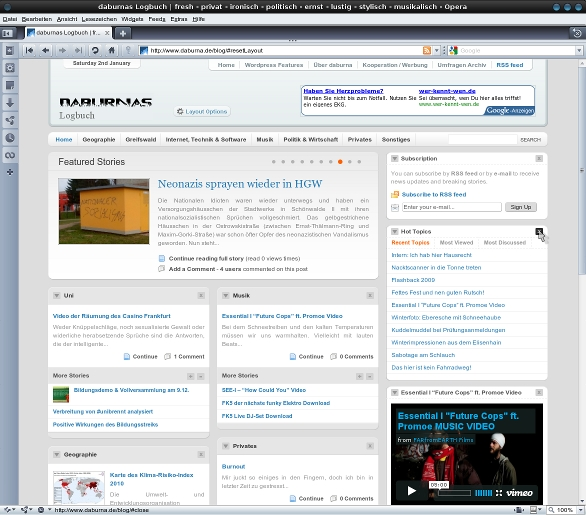 Screenshot: Relaunch daburna.de