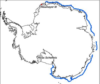 Driftweg eines Eisberges