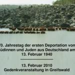70. Jahrestag der ersten Judendeportation