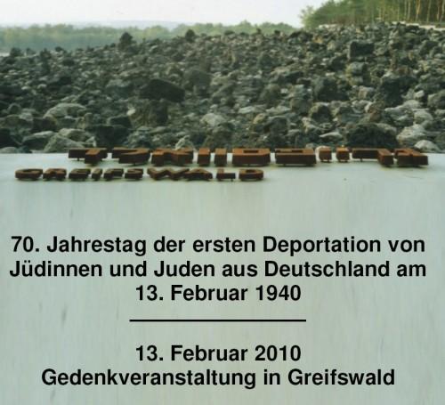 Gedenkveranstaltung für deportierte Juden