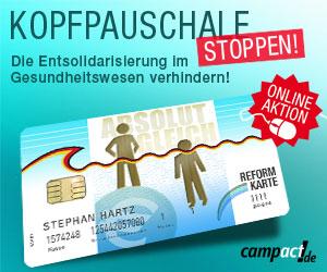 Aktion für den Sozialstaat - Kopfpauschale stoppen!