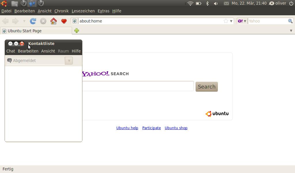 Screenshot Ubuntu Netbook Remix 10.04 Beta 1