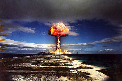 Französischer Atombombentest