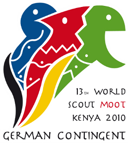 Badge of the German contingent for the 13. World Scout Moot 2010 at Kenya