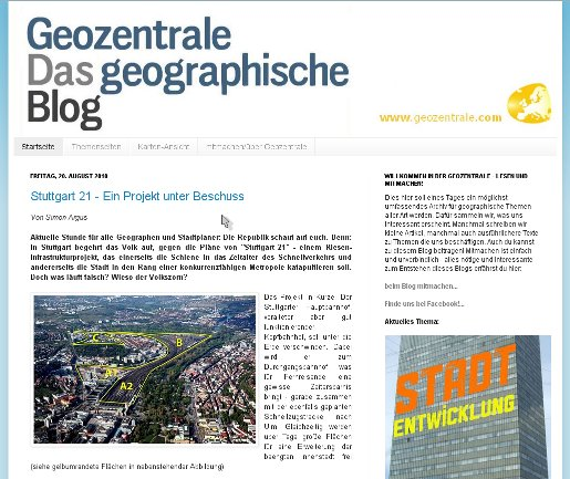 Screenshot Geozentrale.com