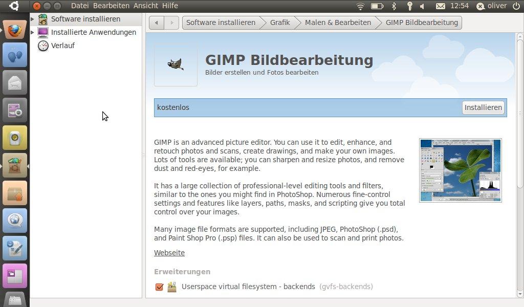 Screenshot des neuen Softwarecenters in Ubuntu Netbook Edition 10.10