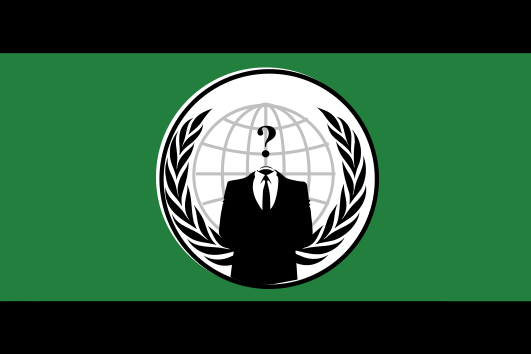 Flagge von Anonymous