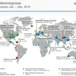 Karte der Naturkatastrophen 2010
