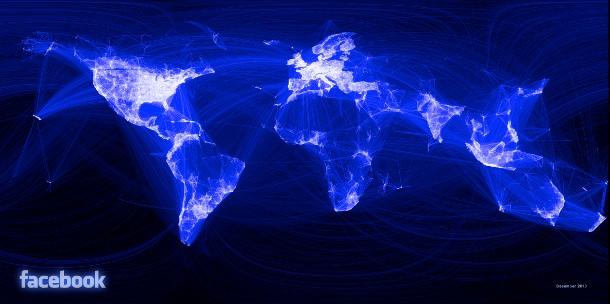 Karte: Facebook Freundschaftsverbindungen