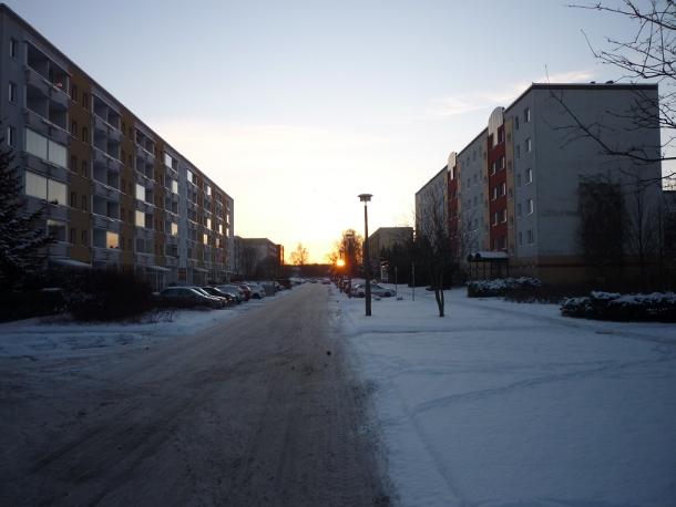 Sonnenaufgang im eingeschneiten Schönwalde II