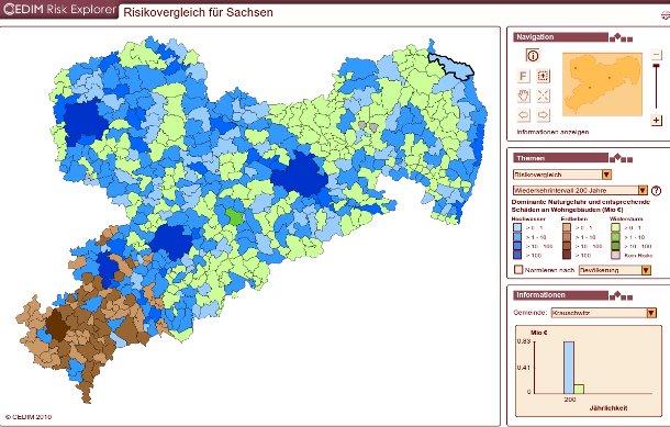 Karte Risikovergleich Sachsen