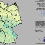 Deutschlandkarte: Radioaktivitätsmessnetz des BfS