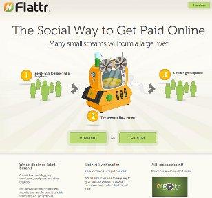 Screenshot Flattr Website