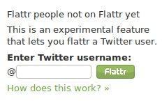Twitterintegration bei Flattr