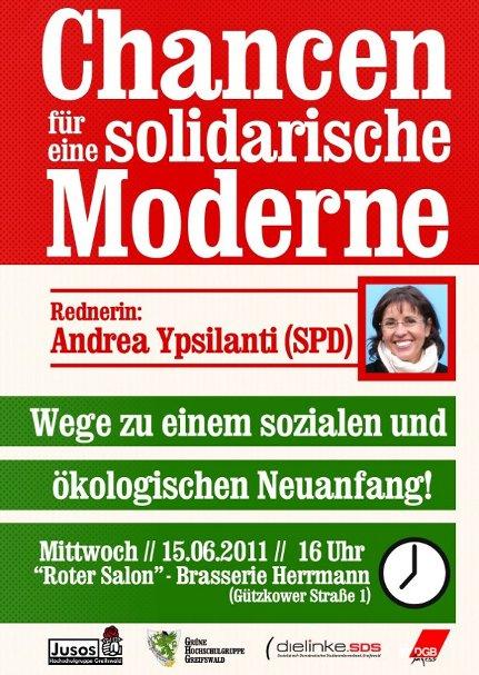 Flyer: Chancen für eine solidarische Moderne