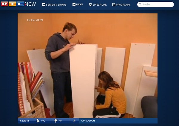 """Screenshot RTL Sendung """"Unsere erste gemeinsame Wohnung"""""""