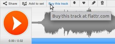Screenshot SoundCloud verbunden mit Flattr