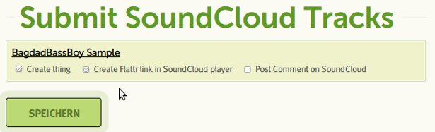Screenshot Submit SoundCloud Tracks to Flattr