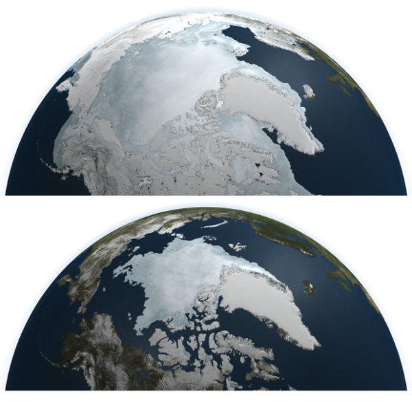 Eisausdehnung in der Arktis 2011