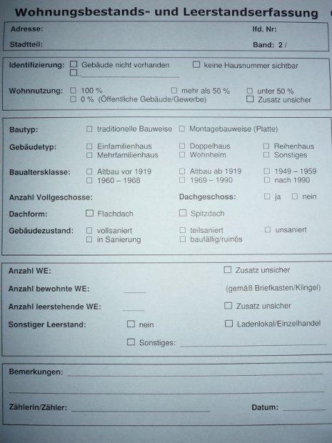 Wohnungsbestands- und Leerstandserfassung Greifswald