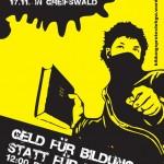 Aufruf zum Bildungsstreik in Greifswald am 17.11.2011