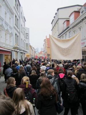 Bildungsstreik 2011 Demo in Greifswald