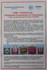 2.500 Euro Belohnung