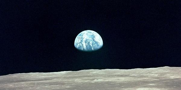 Erdaufgang gesehen von Apollo 11