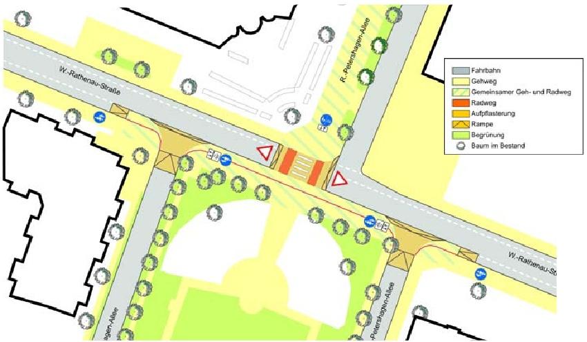 Mögliches Konzept für die Walter-Rathenau-Strasse