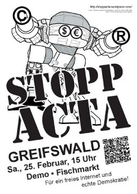 Stopp ACTA! – morgen Demo in Greifswald