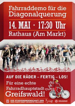 Fahrraddemo am 14. Mai 2012 in Greifswald
